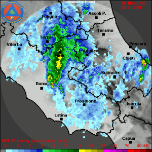 stima precipitazioni temporali 26 marzo 2015