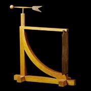 Uno dei due tipi di anemometro messi a punto da Leonardo da Vinci; si tratta dell'anemometro a