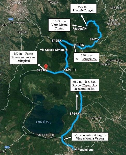 Monti Cimini: il percorso del nostro reportage