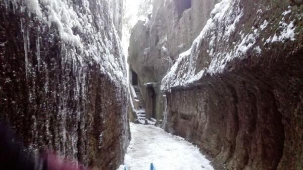 Foto della neve del febbraio 2018 a Corchiano