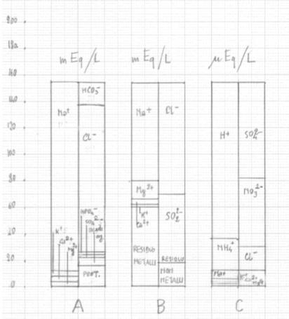 Figura 7. Ionogrammi di fluidi terrestri
