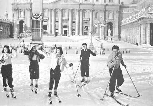 La neve a Roma nel 1956