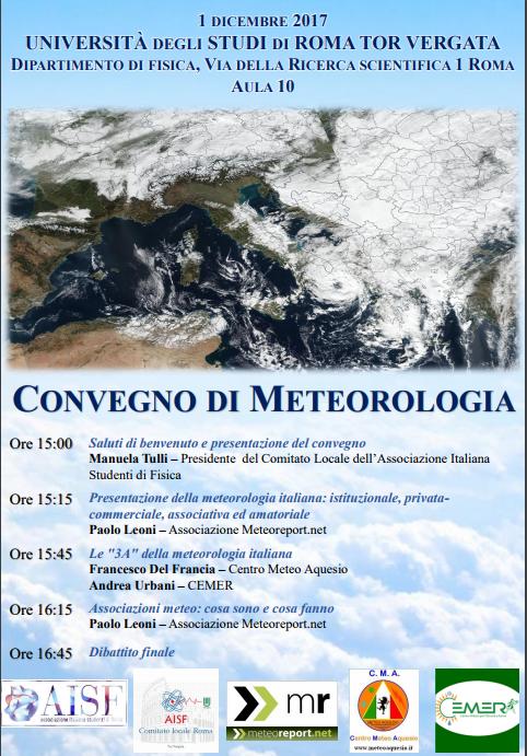 Convegno di meteorologia all'Università di Roma Tor Vergata